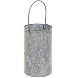 Washed Tin Mini Flower Bucket