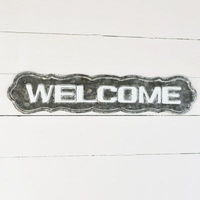 """28"""" TIN WELCOME SIGN"""