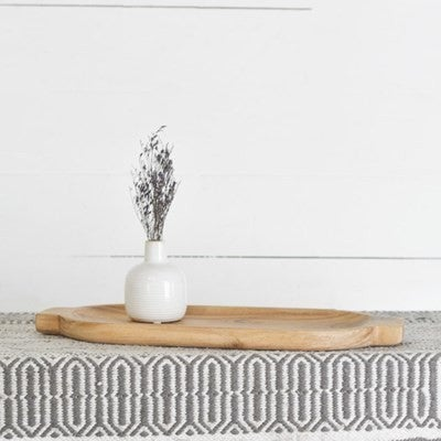 """17.71"""" OVAL WOOD SERVING TRAY"""