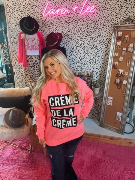 CREME DE LA CREME GRAPHIC SWEATSHIRT
