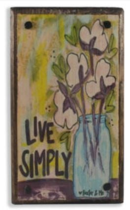 Live Simply Happy Block