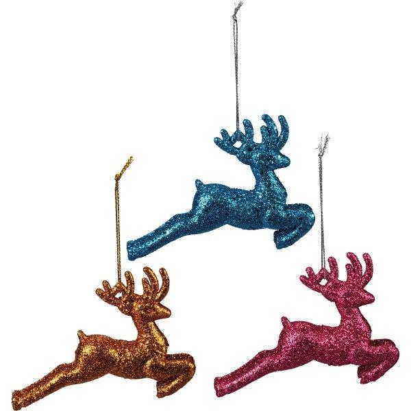 Ornament Set - Running Deer
