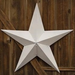 """Farmhouse White Barn Star, 48"""""""