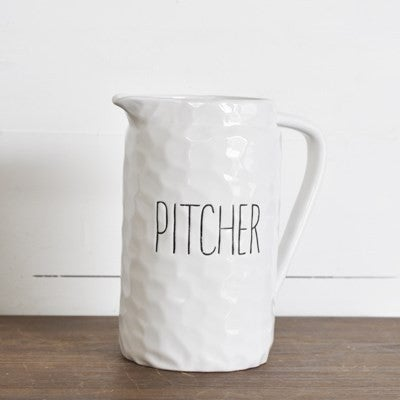 "8.25"" WHITE PITCHER"