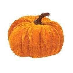 Mini Velvet Orange Pumpkin