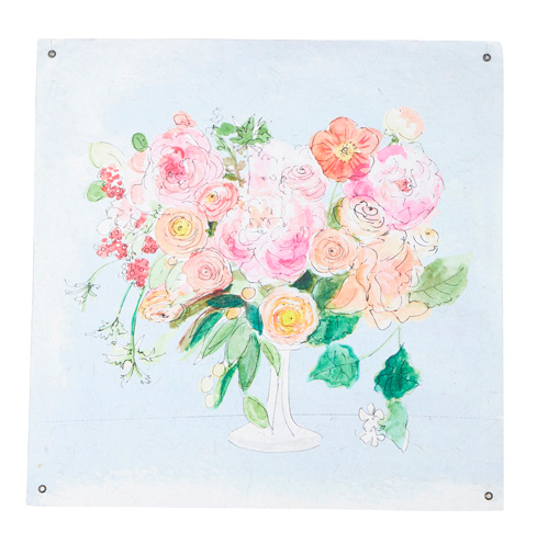 """23.5"""" BLOOMING  PAPER TAPESTRY"""
