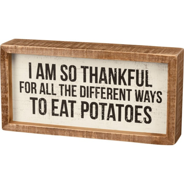 Inset Box Sign - Different Ways To Eat Potatoes