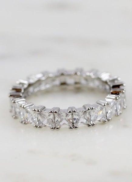 Roy Cz Eternity Ring -Silver