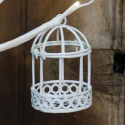 Mini White Birdcage