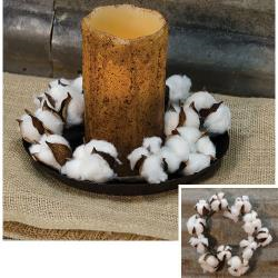 """Country Cotton Ball Ring, 4"""" *Final Sale*"""