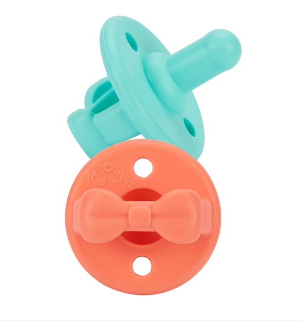 Aquamarine + Peach Sweetie Soother™ Pacifier Set
