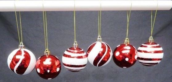 Pack of 6, 60MM Ball Ornaments
