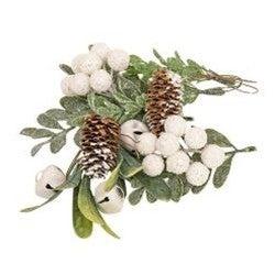 White Glitter Holiday Bowl Filler