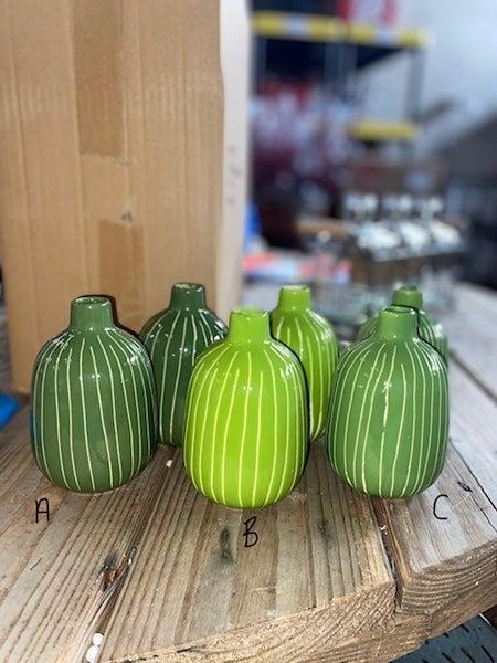 """4.5""""H Green Ceramic Vase"""
