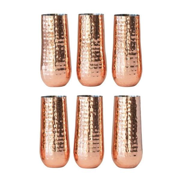 Copper Finish Champagne Flute
