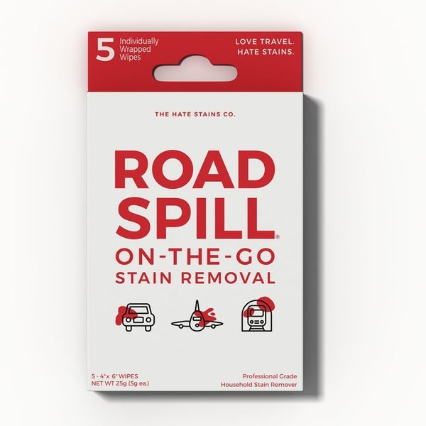 Road Spill 5Pack Single Serve Stain Remover  Wipes.