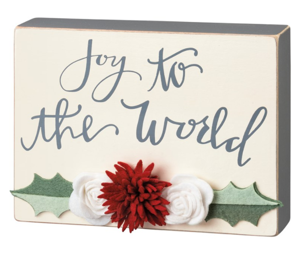 Box Sign- Joy To The World