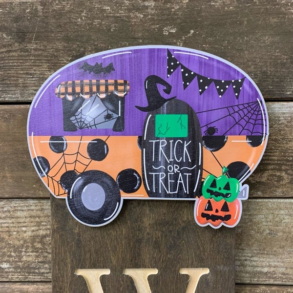 Halloween Camper Welcome Sign Topper