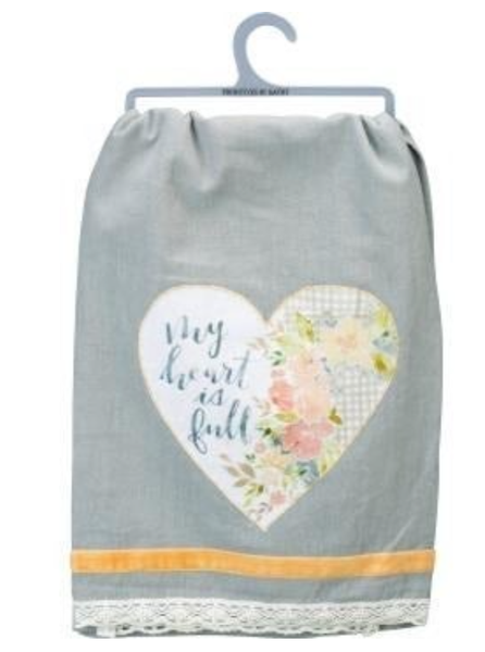 Dish Towel - My Heart is Full