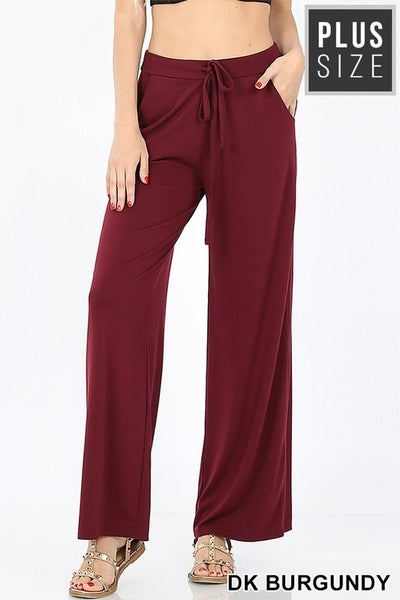 PLUS LOUNGE PANTS LOOSE FIT WITH DRAWSTRING WAIST