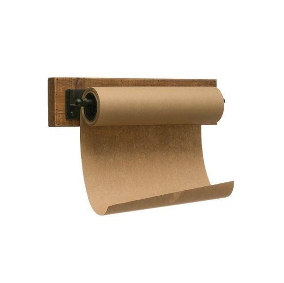 Wood & Metal Wall Bracket w/ Paper Roll