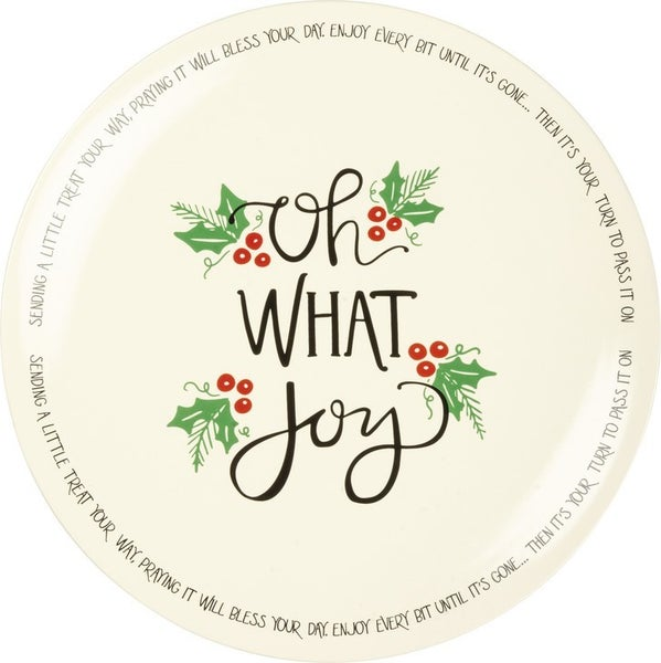 Blessing Plate- What Joy