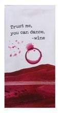 Witty Wine You Can Dance Dual Purpose Terry Towel