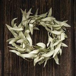 """3.5"""" Flocked Herb Leaves Ring"""