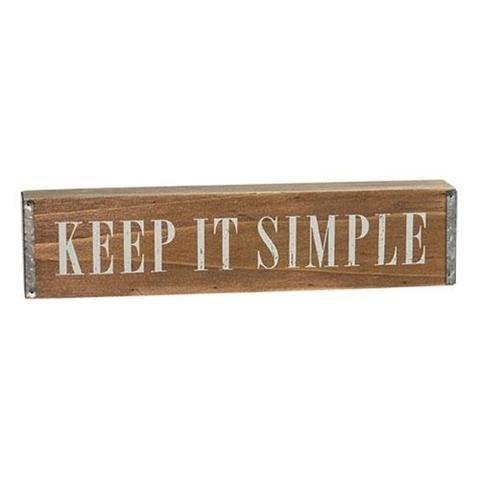 Keep It Simple Wood & Metal Table Sign