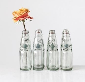"8""H Decorative Vintage Reproduction Glass Soda Bottle"