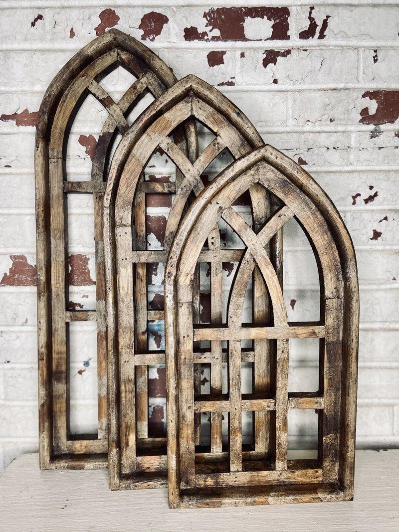 Brown Lattice Arch