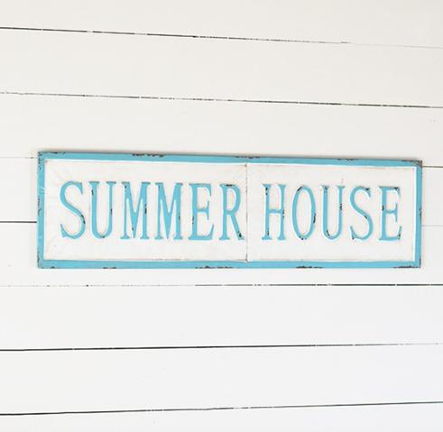 """SUMMER HOUSE"" TIN WALL SIGN"