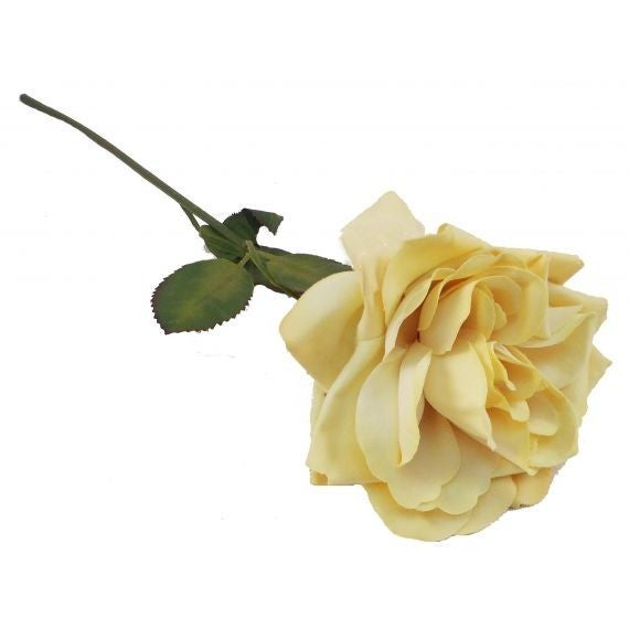 "20 "" Single Rose Stem - Yellow"