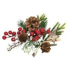 Mixed Pine, Berries, & Birch Holiday Bowl Filler