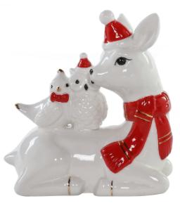 Ceramic Deer w/Forest Animals