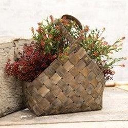 Rustic Woven Gathering Basket