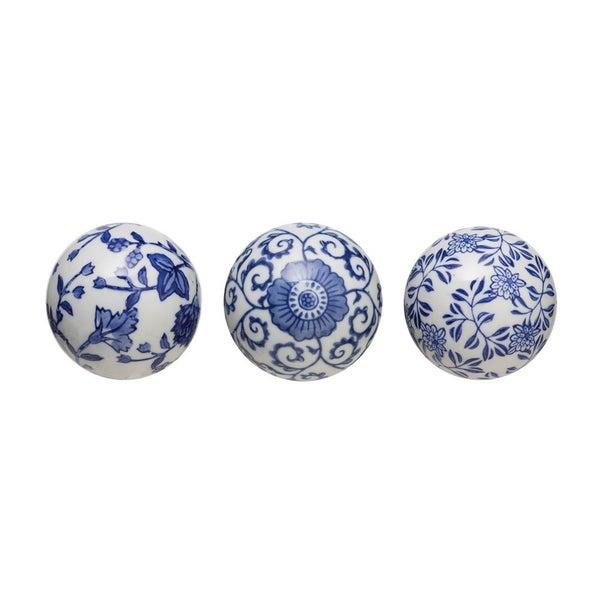 """3"""" Round Ceramic Orb- Assorrted"""