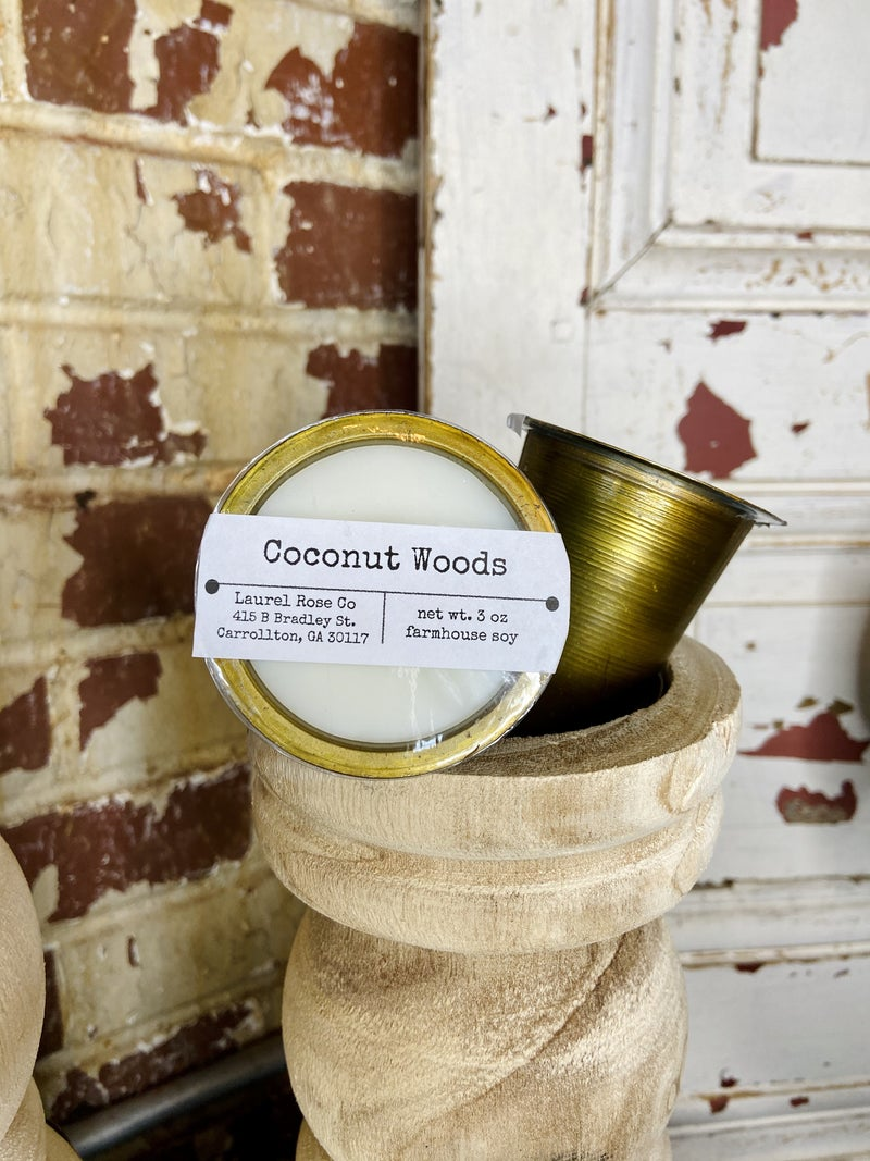 Sugar Mold Candle Cup- Coconut Woods