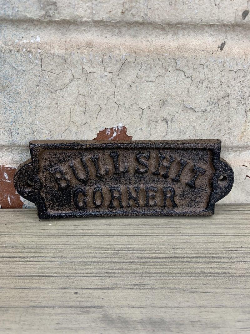 Bull Corner Castiron Plaque