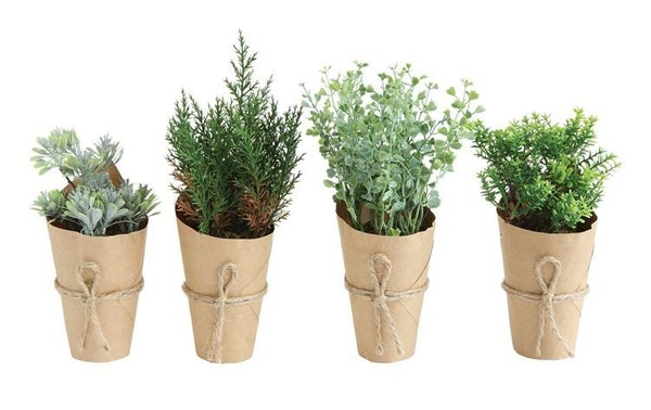 Assorted Artificial Plant In Paper Wrapped Pot