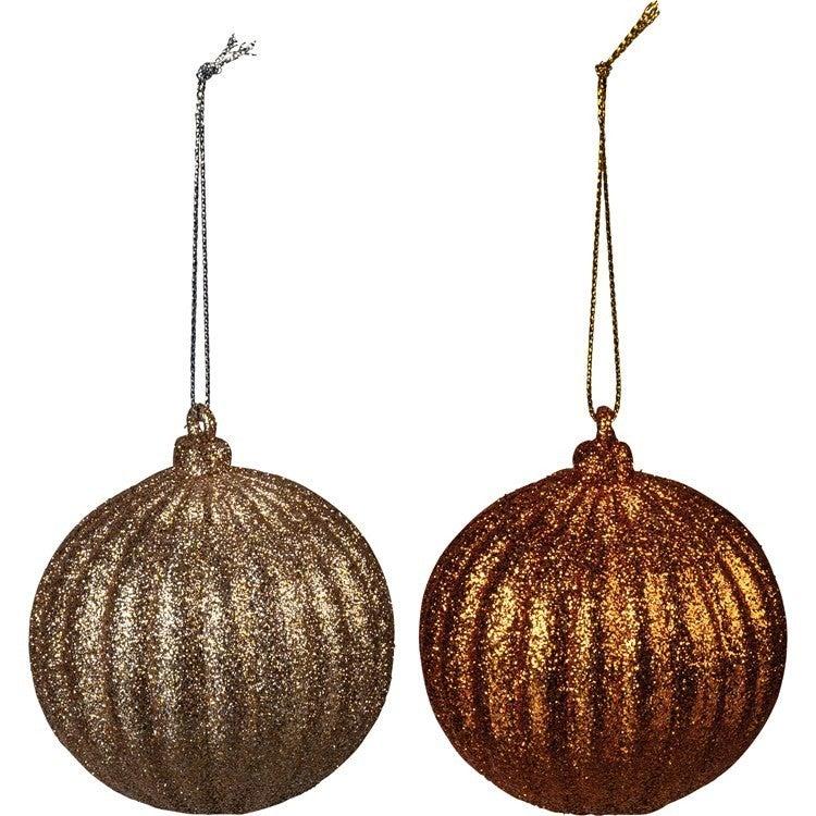 Ornament Set - Lg Orange Balls