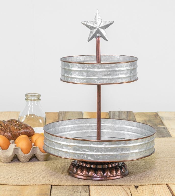 COUNTRY STAR 2-TIER TABLETOP DISPLAY