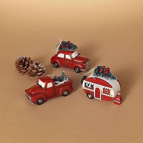 "4.9""L Resin Holiday Vehicle Ornament"