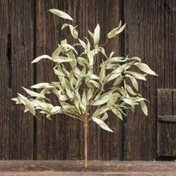 "Flocked Herb Leaves Bush 24"""