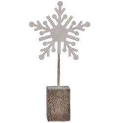 """Snowflake with Clip on Block- 6.5"""""""