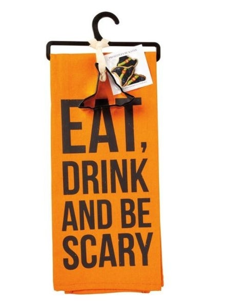 Towel & Cutter Set - Eat Drink And Be Scary