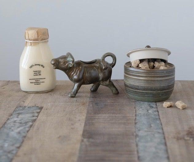 4 oz. Stoneware Cow Pitcher