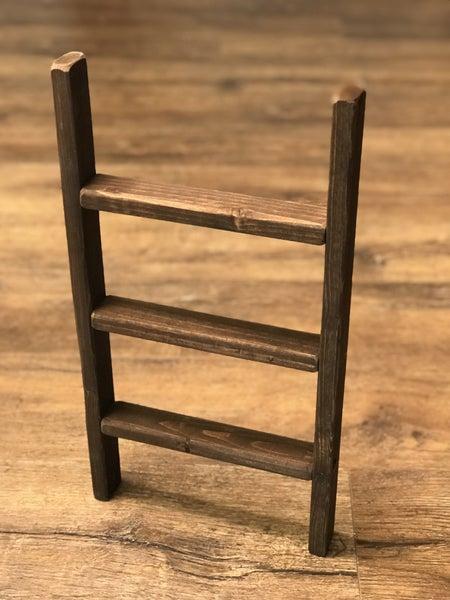 Dark Stain Towel Ladder