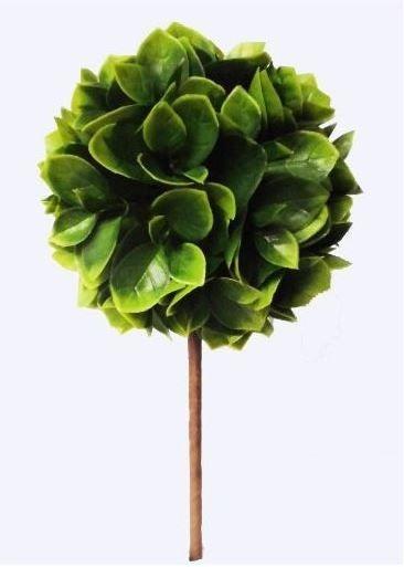 """5.5 """" Dia Plastic Leaf Topiary"""