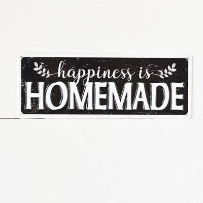 HAPPINESS HOMEMADE TIN SIGN